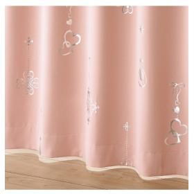箔プリント遮光カーテン(ビーズタッセル付) ドレープカーテン(遮光あり・なし)