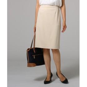 UNTITLED(アンタイトル) 【洗える】グログランストレッチタイトスカート