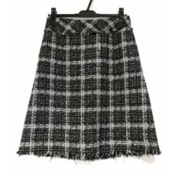 トゥービーシック TO BE CHIC スカート サイズ42 L レディース 美品 黒×白 ツイード【中古】20190716