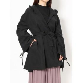 メリージェニー 2wayフリルフードジャケット レディース ブラック F 【merry jenny】