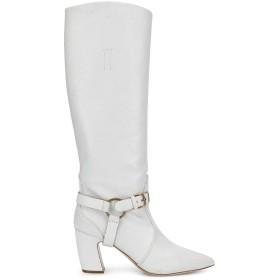 Miu Miu サイドバックル ブーツ - ホワイト