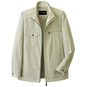【メンズ】 トロイ・ブロス麻入りストライプジャケット - セシール ■カラー:ライムグリーン ■サイズ:M
