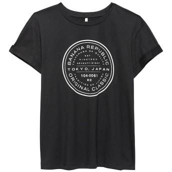 Banana Republic ボーイフレンドTシャツ BR ロゴ