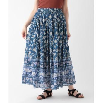 studio CLIP スタディオクリップ コットンボイルパネル柄スカート