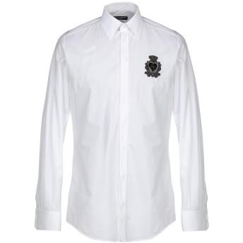 《セール開催中》DOLCE & GABBANA メンズ シャツ ホワイト 41 コットン 100% / 真鍮/ブラス / シルク / レーヨン / ポリエステル