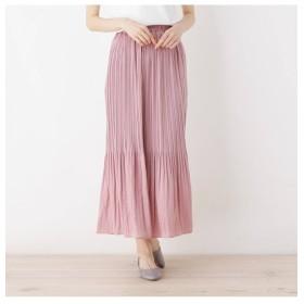 【イッツデモ/ITS'DEMO】 マットサテン消しプリーツロングスカート