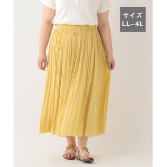 studio CLIP スタディオクリップ ビンテージサテン消しプリーツスカート