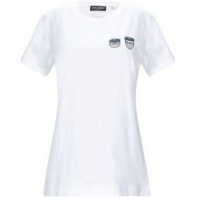《セール開催中》DOLCE & GABBANA レディース T シャツ ホワイト 38 コットン 100% / レーヨン / ポリエステル
