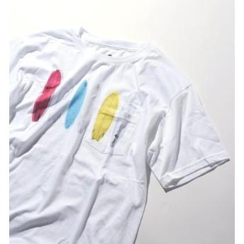 【シップス/SHIPS】 THE POSTER LIST: プリントポケット Tシャツ