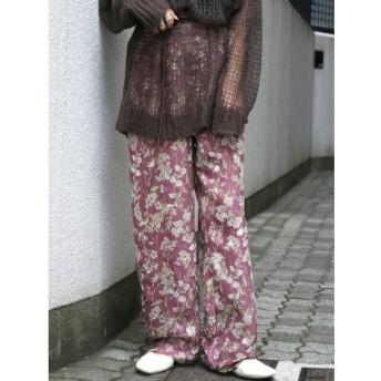 【アングリッド/Ungrid】 ジャカードフラワーワイドパンツ
