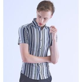 【アバハウス/ABAHOUSE】 【Recency of Mine】COOLMAX鹿の子マルチストライプシャツ