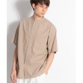 (niko and./ニコアンド)ストライプバンドカラーシャツ/ [.st](ドットエスティ)公式