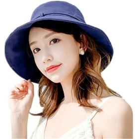 帽子 レディース UVカット 紫外線100%カット UV ハット 可愛い 小顔効果抜群 日よけ 折りたたみ つば広 自転車 飛ばない 夏 春 サイドリボン