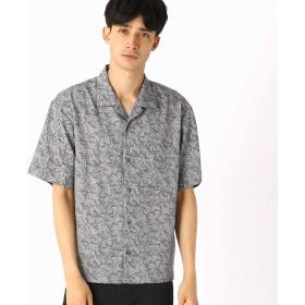 (コムサ イズム) COMME CA ISM テンセルツイルプリント オープンカラーシャツ 47-32IN01-109 L グレー