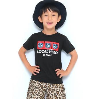 アナップキッズ ANAP KIDS キャラクタープリントTシャツ (ブラック)