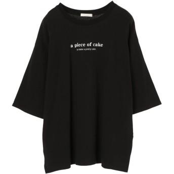 【5,000円以上お買物で送料無料】apoc7分袖ロゴプルオーバー