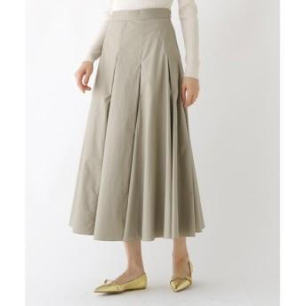 DRESSTERIOR / ドレステリア 【洗える】コットン タックフレアロングスカート