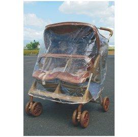 欣康-左右型雙人雨罩 (適用多款推車雨罩) 用於雙人推車左右並排型70cm~78cm【紫貝殼】