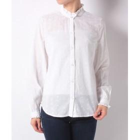 【37%OFF】 キャスキッドソン エンブロイダードコットンシャツ ソリッド レディース ホワイト系 10 【Cath Kidston】 【タイムセール開催中】