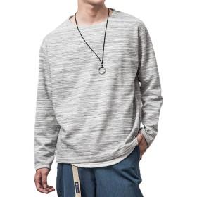 ジョーカーセレクト(JOKER SELECT) メンズ Tシャツ 半袖 七分袖 長袖 カットソー サーマル M グレー杢(長袖)
