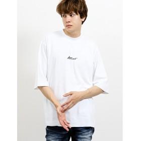 【10%OFF】 タカキュー シルクタッチポンチ モックネックBIG5分袖Tシャツ メンズ ホワイト L 【TAKA-Q】 【タイムセール開催中】