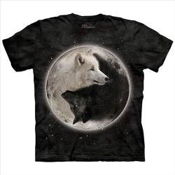 【摩達客】(男童/女童裝)美國進口The Mountain 陰陽狼 純棉環保短袖T恤