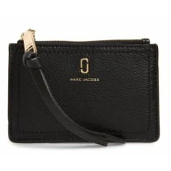 マーク ジェイコブス MARC JACOBS レディース 財布 Snapshot Leather Zip Wallet Black