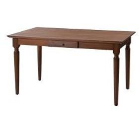 ダイニングテーブル チーク材 引出し付 アジアンテイスト 幅135cm