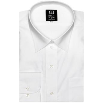 ブリックハウス 形態安定 ノーアイロン 長袖ワイシャツ レギュラー ホワイト○BM019100AA15R1Z ホワイト系 トップス