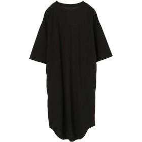 【5,000円以上お買物で送料無料】nougatineカノコオーバーサイズ7分袖ワンピース