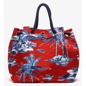 SUMMER ハワイアンテキスタイルロープハンドルバケットバッグ