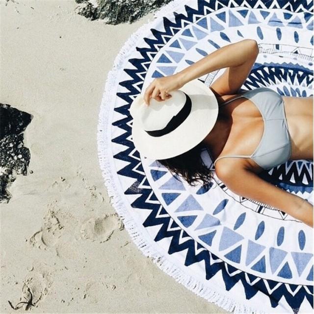 超人気インスタグラムで話題 韓国ファッション 超高品質 ビーチホリデーエッセンシャル ビーチタオル アイランド水着ラップスカート ショール糸 丸型超大型ビーチマット リゾート 海水浴 ビーチマット