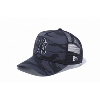 NEW ERA ニューエラ 9FORTY A-Frame トラッカー ニューヨーク・ヤンキース タイガーストライプカモグラファイト × スノーホワイト ブラック アジャスタブル サイズ調整可能 ベースボールキャップ キャップ 帽子 メンズ レディース 56.8 - 60.6cm 12108898 NEWERA メッシュキャップ