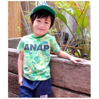 (ANAP KIDS/アナップキッズ)リーフ総柄Tシャツ/レディース グリーン