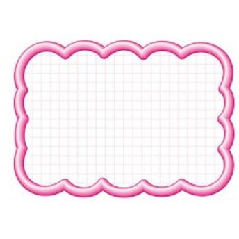 4974268531544 タカ印 抜型カード 16-4196 雲形大 ピンク