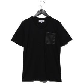 50%OFF Growth by Grail (グロースバイグレイル) パンチングレザーポケットTシャツ ブラック