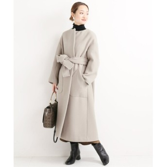 VERMEIL par iena 《予約》Super100s メルトン テントラインコート◆ グレーA 38