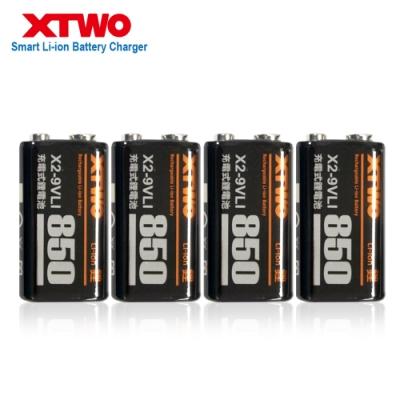 Xtwo 高容量850型 9V鋰充電電池 4入