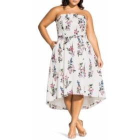 シティーシック CITY CHIC レディース ワンピース ワンピース・ドレス Sweet Bouquet Strapless A-Line Dress Sweet Bouquet