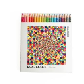 [コクヨ] デュアルカラー色鉛筆20色
