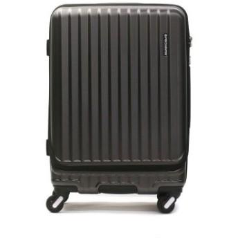 (GALLERIA/ギャレリア)フリクエンター スーツケース FREQUENTER MALIE マーリエ Mサイズ フロントオープン 充電 キャリーケース 拡張 55L 3泊 1-281/ユニセックス ブラック 送料無料