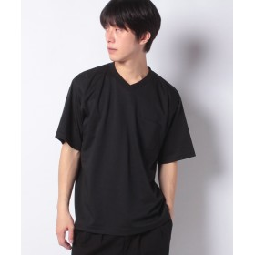 コエ ハイゲージポンチVネックTEE メンズ ブラック L 【koe】