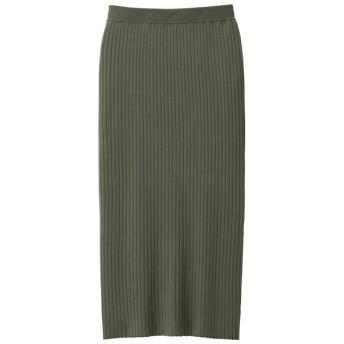 GU ワイドリブニットナロースカート