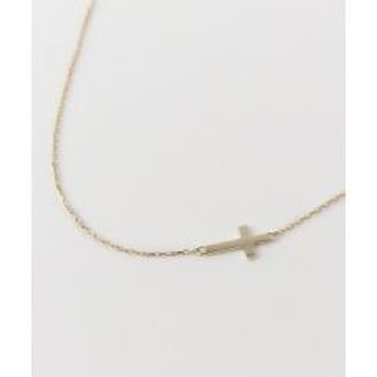 LES BON BON cross side necklace【お取り寄せ商品】