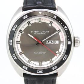 ハミルトン パンユーロ オートマティック メンズ H354150 箱ギャラ付 裏スケ 純正替えベルト付 【時計】