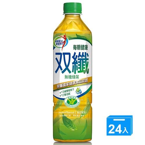 每朝健康雙纖綠茶650ml*24/箱【愛買】