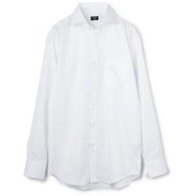 (Men's Bigi/メンズビギ)ホリゾンタルカラーシャツ/ジャガード織りフラワー柄/コットン100%/メンズ ホワイト系その他 送料無料