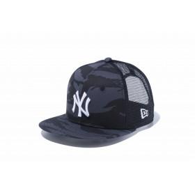 【ニューエラ公式】キッズ 9FIFTY トラッカー ニューヨーク・ヤンキース × スノーホワイト 男の子 女の子 49.2 - 53cm MLB キャップ 帽子 12108755 NEW ERA メッシュキャップ