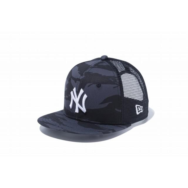 NEW ERA ニューエラ キッズ 9FIFTY トラッカー ニューヨーク・ヤンキース × スノーホワイト スナップバックキャップ アジャスタブル サイズ調整可能 ベースボールキャップ キャップ 帽子 男の子 女の子 49.2 - 53cm 12108755 NEWERA メッシュキャップ