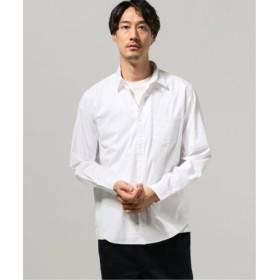 (JOURNAL STANDARD/ジャーナルスタンダード)パターン レギュラーカラー シャツ/メンズ ホワイト